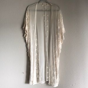 Forever 21 Cream Lace Cover Up